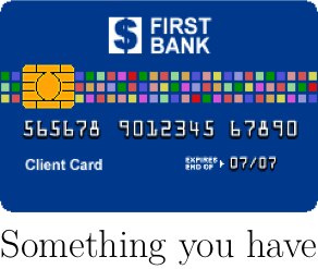 Something you have: ATM card