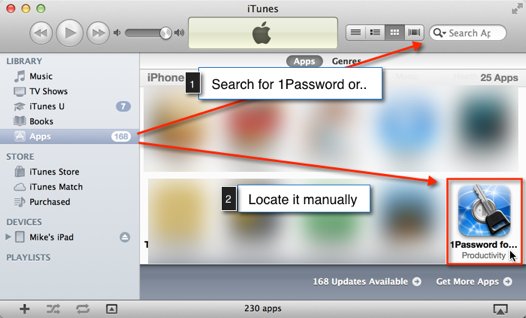 Locate 1Password