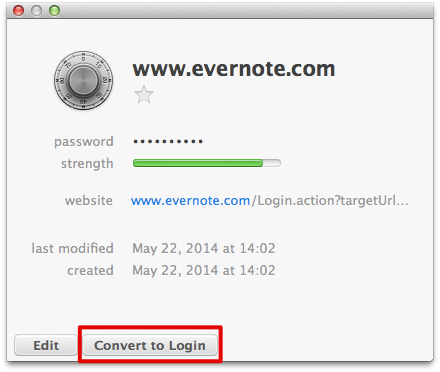 Can I convert Logins to Passwords? [Not possible to change
